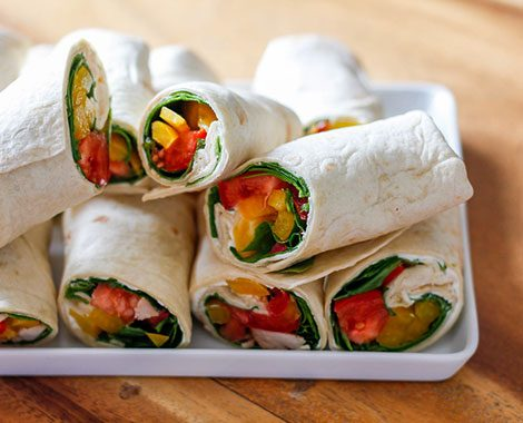 A photo of wraps from The Coffee Hideaway